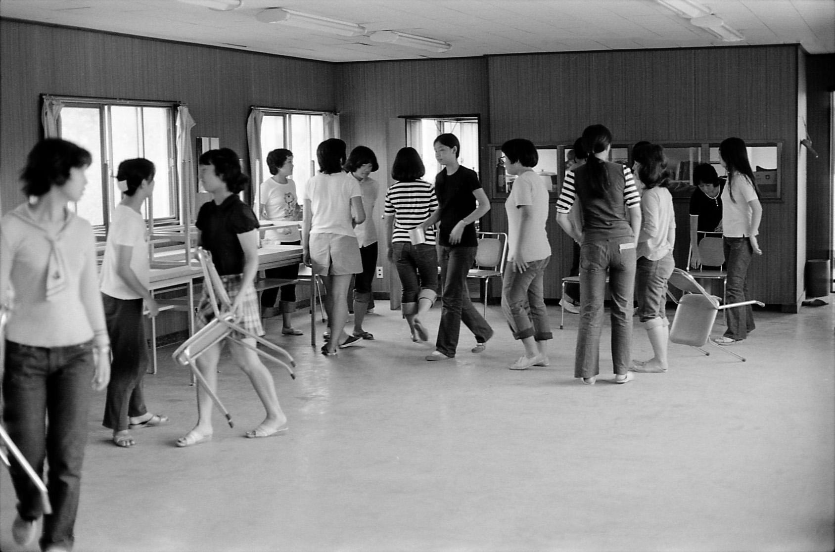 3年6組 ホームルーム合宿 昭和47年9月3日 撮影