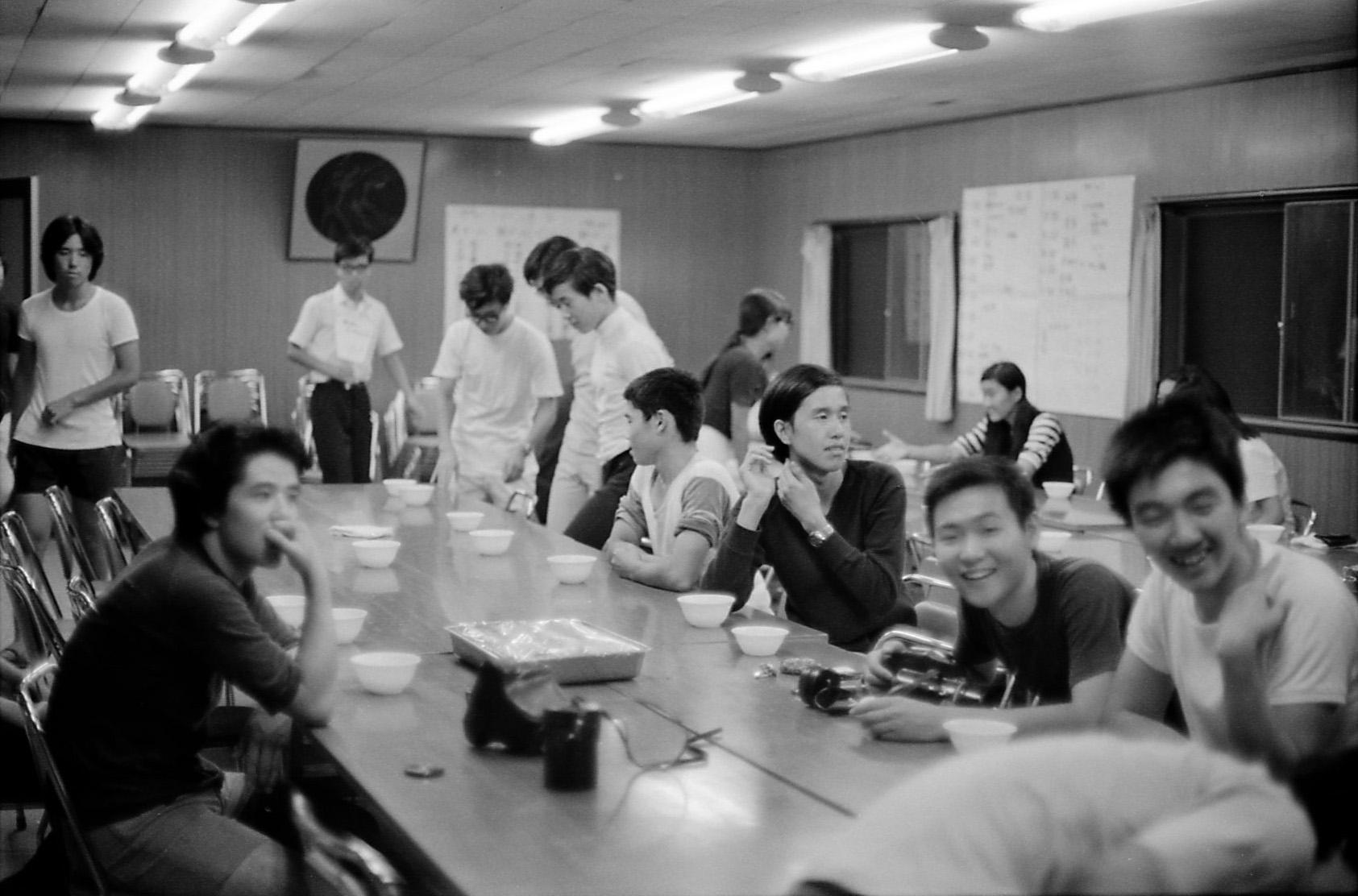 3年6組 ホームルーム合宿 昭和47年9月2日 撮影
