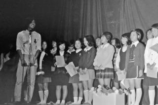3年5組 合唱団 昭和47年10月7日 撮影