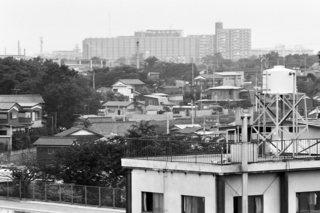 屋上からの遠景 昭和47年7月18日 撮影